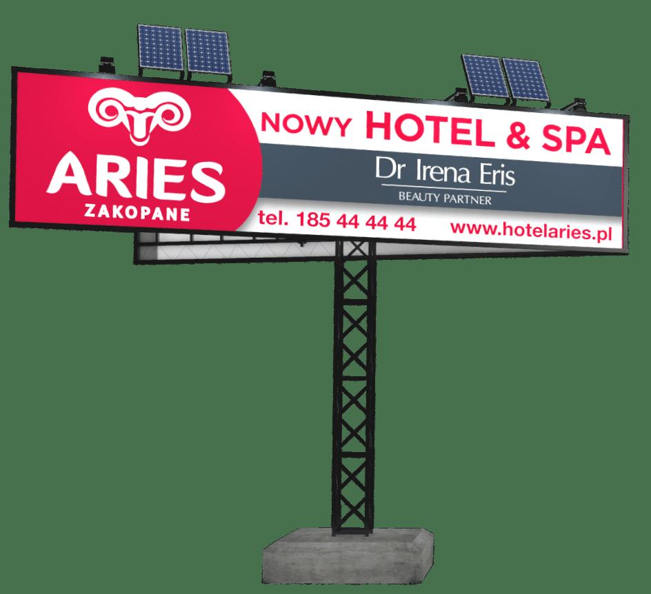 oświetlenie solarne tablic reklamowych
