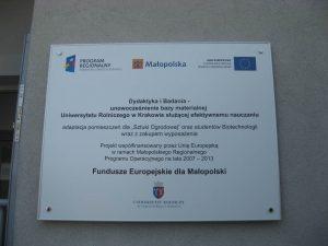 tablice unijne kraków