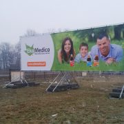 Konstrukcja reklamowa 15x4m