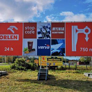 Konstrukcja reklamowa 12x4m